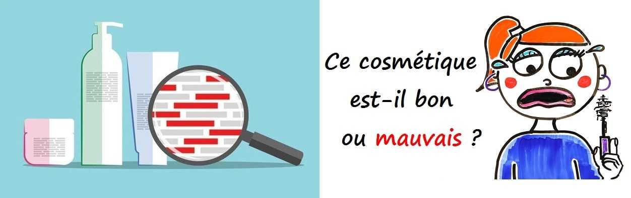Controle ingrédients cosmetiques - comparaison cosmetiques bio avec cosmetiques conventionnels
