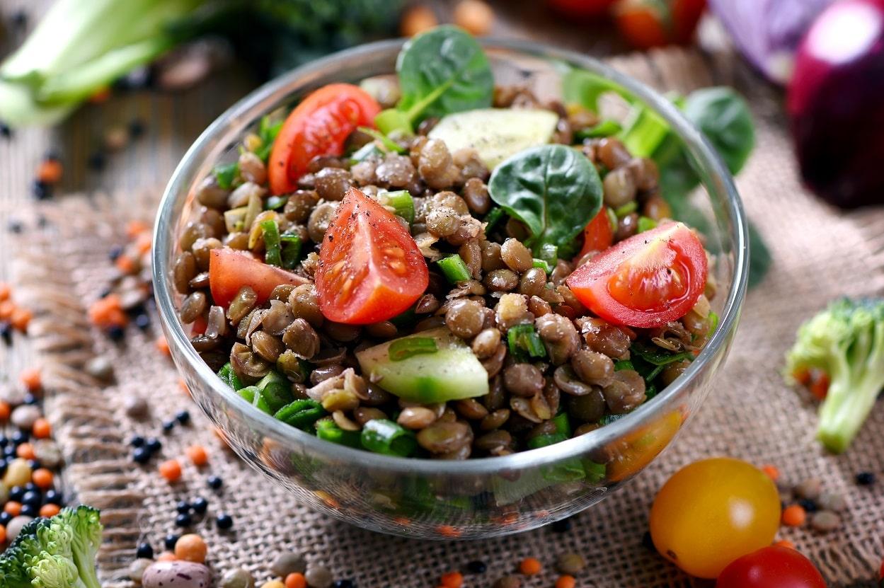 salade - lentilles - legumineuses